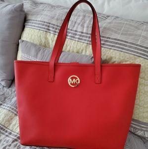 EUC - Michael Kors burnt orange / red  purse